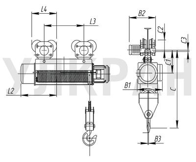 Схема электрического тельфера серии Т105.